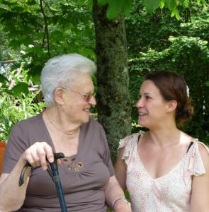 moi et ma grand mère en juin dernier